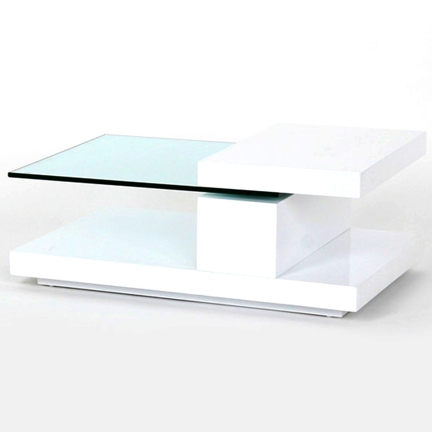 White And Glass Coffee Table You Keep Your Things Organized The Perfect Size To Fit With One Of Our Younger Sectional Sofas And The Table Top Clear (Image 8 of 8)