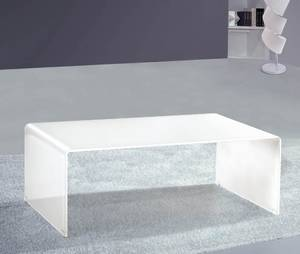 White Glass Coffee Table Also Glass Material Increases The Space Of All Rooms (View 2 of 9)