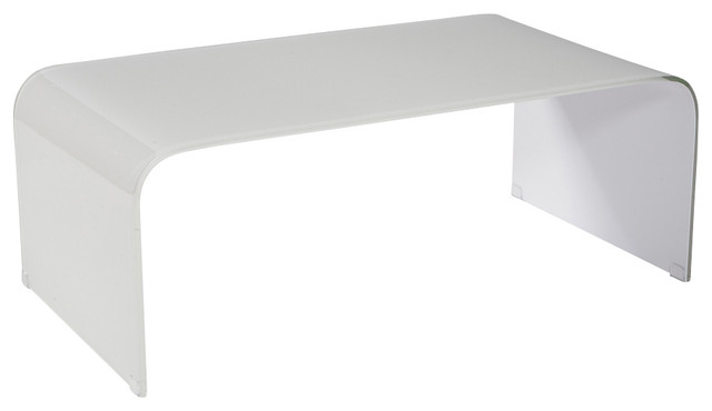 White Glass Coffee Table Incredible Glass Top Table Designs For You To Enjoy Your Coffee Contemporary Decor On Table Design Ideas (View 6 of 9)