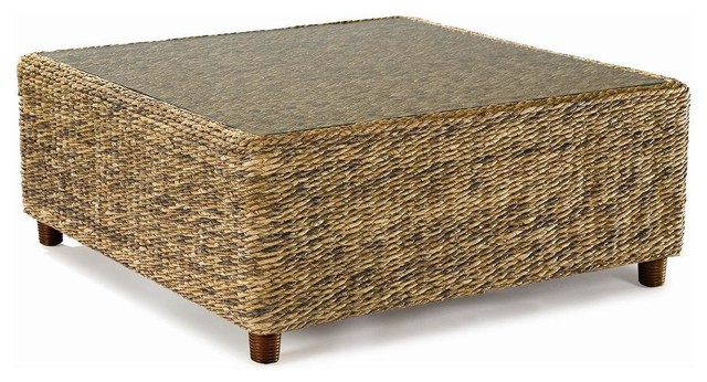 Wicker Coffee Tablemodern Wood Coffee Table Reclaimed Metal Mid Century Round Natural Diy Padded Large Leather Large Rattan Coffee Table Ottoman (View 10 of 10)