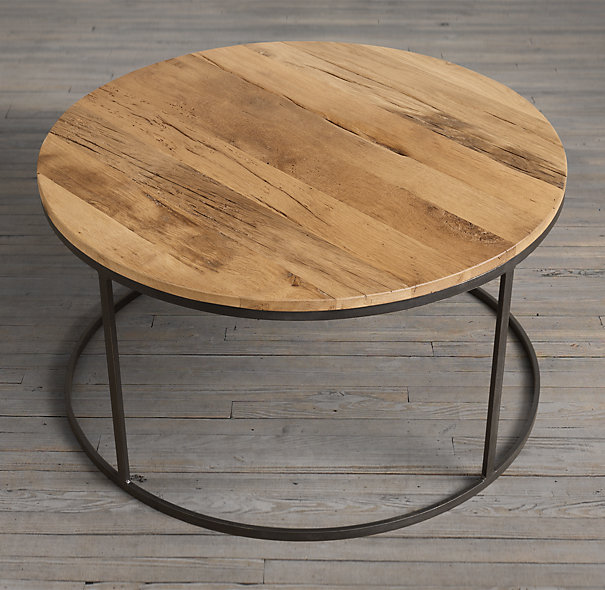 Wooden Round Coffee Table Pict Round Shape With 4 Legs And Circle Legs (View 10 of 10)