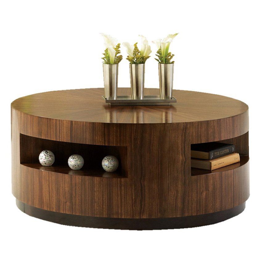 Wooden Round Coffee Shape Wood Furnish Table Free (Image 7 of 10)