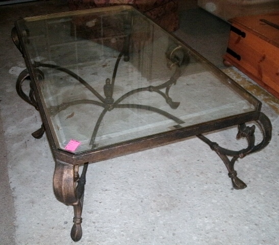 Top 10 of Wrought Iron Coffee Table With Glass Top