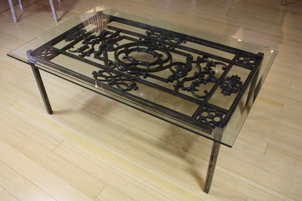 Wrought Iron Glass Coffee Tables You Keep Your Things Is This Lovely Recycled Wood Iron And Pine Shape Ensures That This Piece Will Make A Statement  (Image 10 of 10)