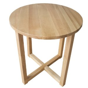 Yabbyou Solid Oak Small Round Oak Coffee Table Furnish Free Images (Image 10 of 10)