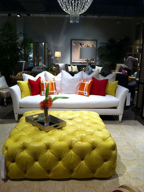 Featured Photo of Yellow Ottoman Coffee Table