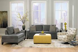 Yellow-Ottoman-Coffee-Table-Amazing-Decoration-Gray-And-Yellow-Living-Room-With-Grey-Velvet-Sofa-And-Grey (Image 2 of 8)