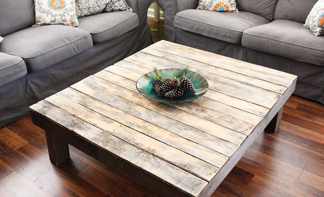 Yonder Years Rustic Reclaimed Wood Large Square Coffee Table Rustic Coffee Tables (Photo 10 of 10)