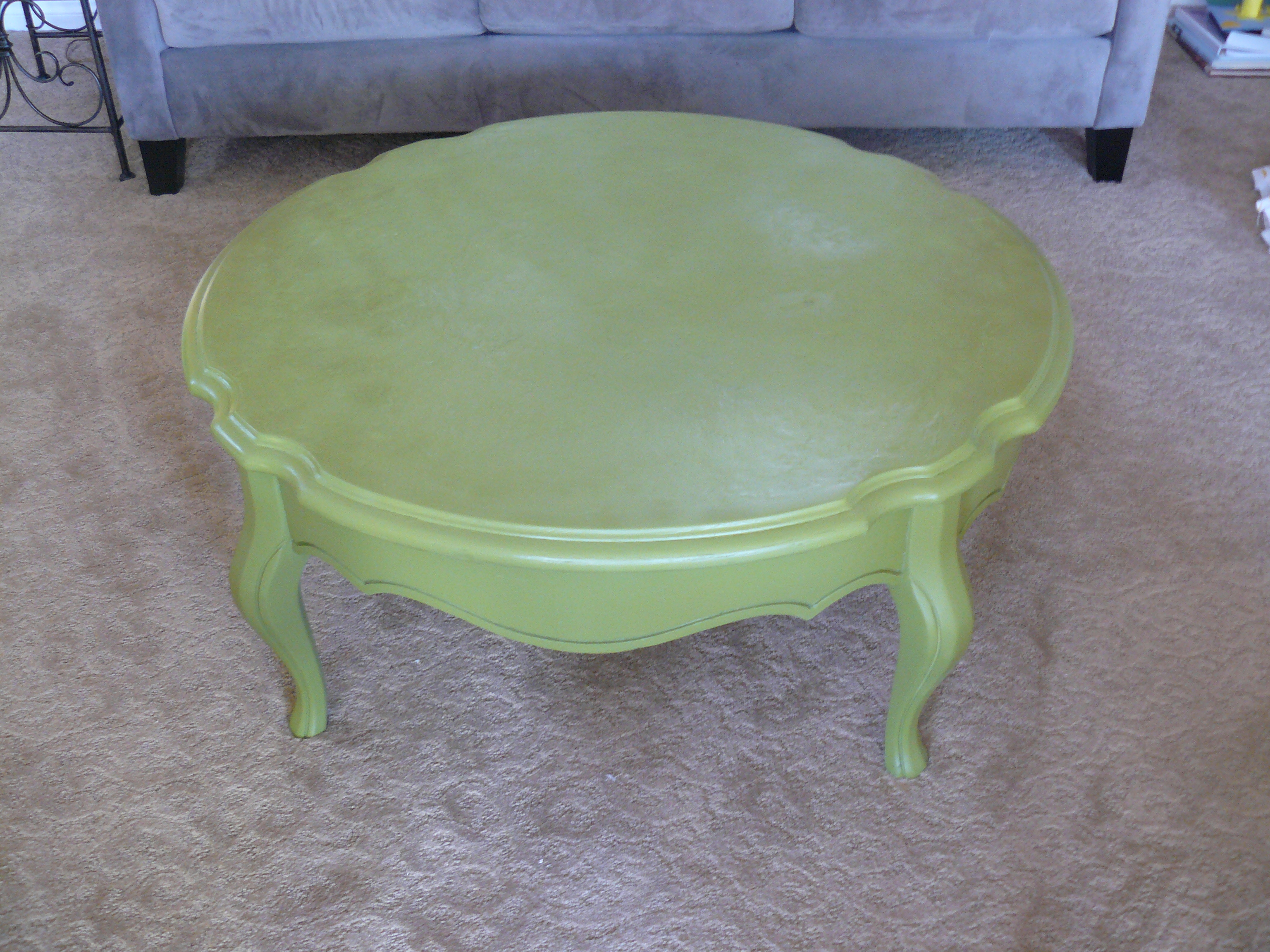 Painted Wood Coffee Table Medium Size Distressed Farmhouse