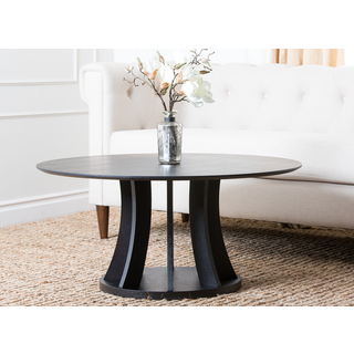 Featured Photo of Brown Espresso Round Coffee Table Interior