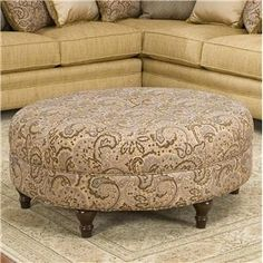 Featured Photo of Round Fabric Coffee Table Ottoman