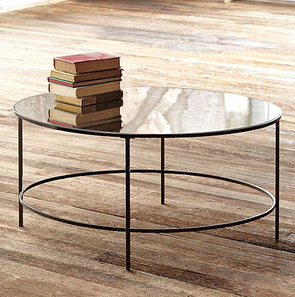 Adding Shine With Mirrored Furniture Subtle Effect The Foxed Mirror Coffee Table Its Antiqued