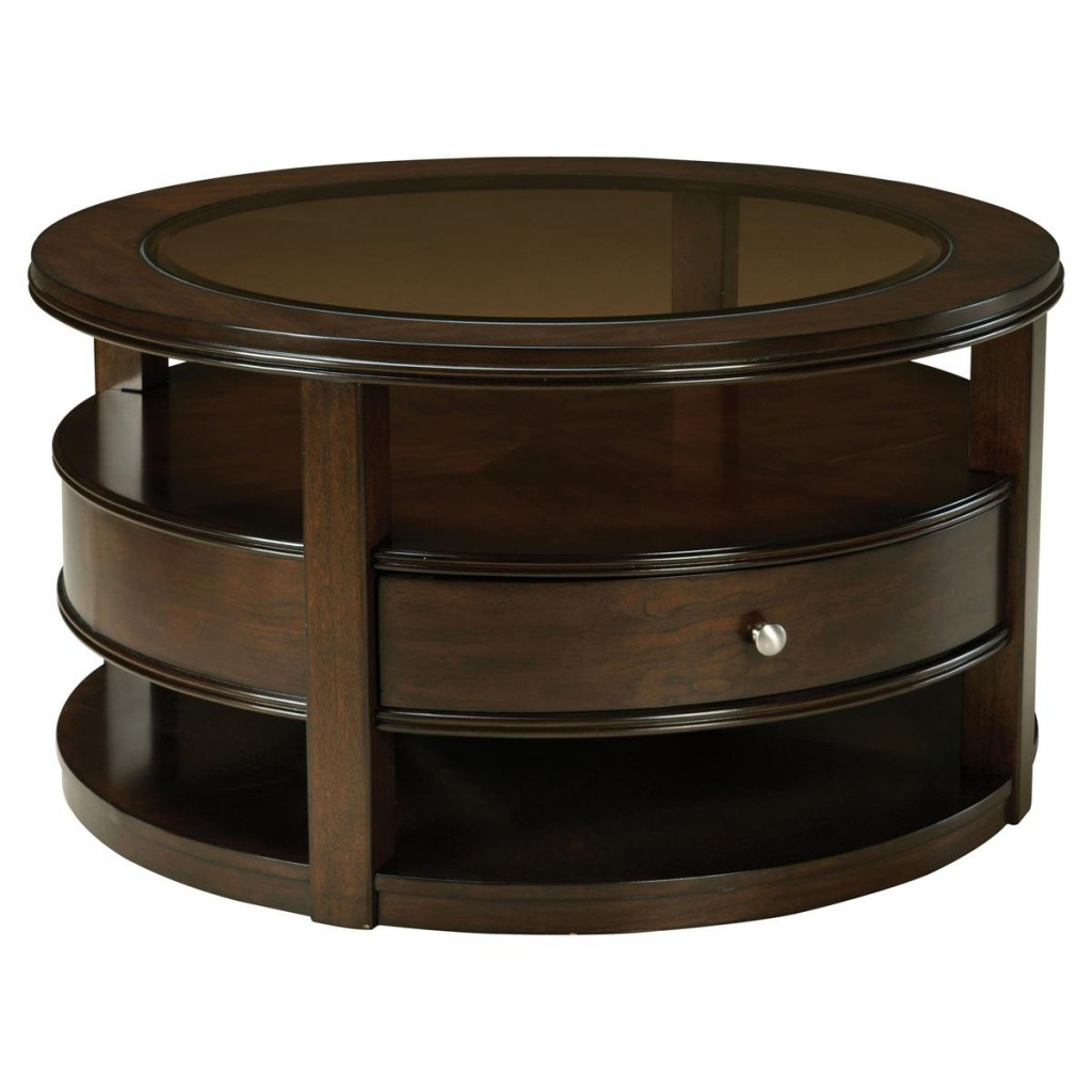 Featured Photo of Round Coffee Tables With Drawers For Storage