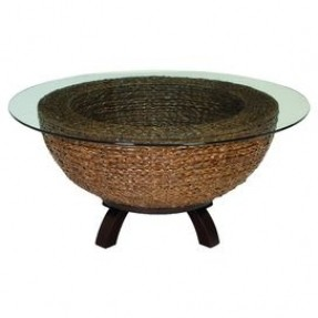 An Eye Catching Addition To Your Sunroom Or Den This Stylish Coffee Table Showcases 40 Round Coffee Table Circle Shaped Coffee Tables (View 2 of 10)