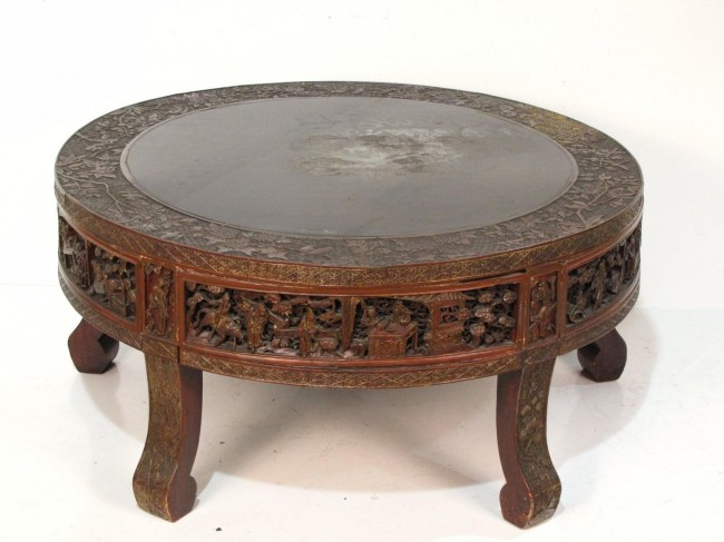 Antique Oriental Carved Round Coffe Table Round Antique Coffee Table Antique French Coffee Tables (View 5 of 10)