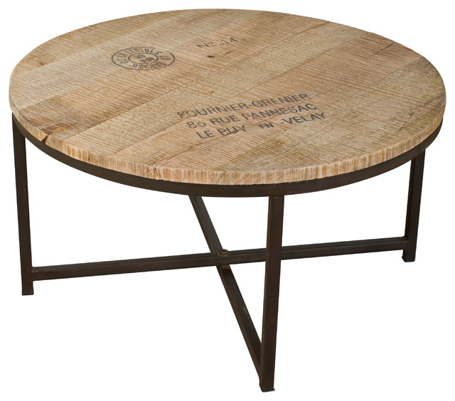 Ayodhya Round Coffee Table Product Industrial Coffee Tables 24 Round Coffee Table Traditional And Modern Coffee And Side Tables (View 2 of 10)
