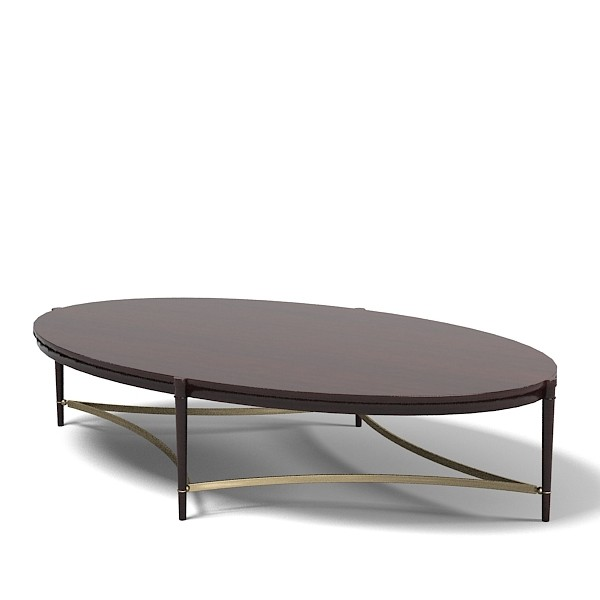 Baker Thomas Pheasant Modern Wood Coffee Table Reclaimed Metal Mid Century Round Natural Diy Modern Modern Oval Coffee Table (Image 1 of 10)