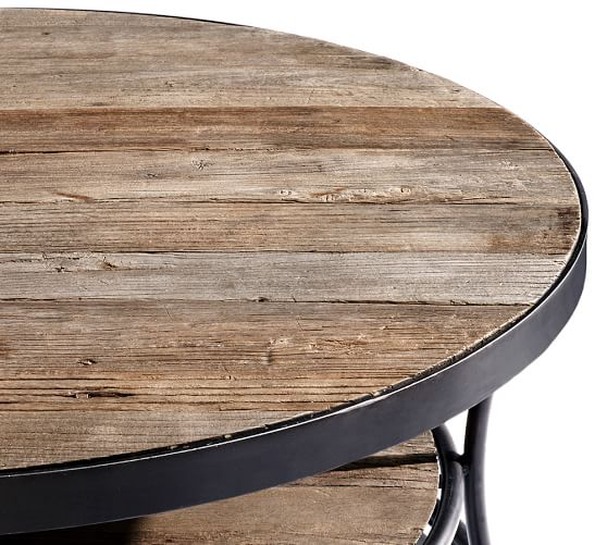 Attractive Bartlett Reclaimed Wood Coffee Table Natural Wood Coffee Table Extra Large  Round Coffee Table Extra Large
