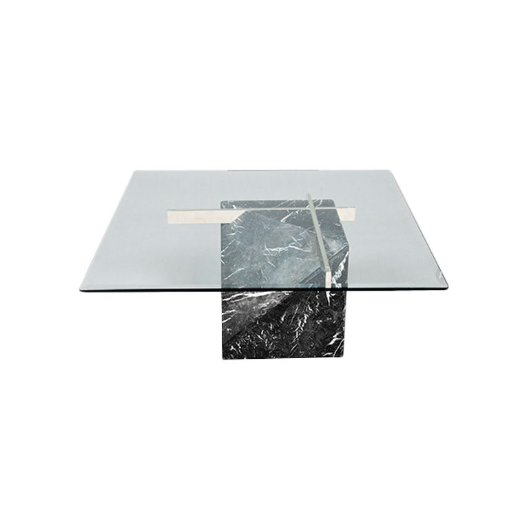 Base For Glass Coffee Table Artedi Marble Base Glass Top Coffee Table 1970  80s Marmers Design