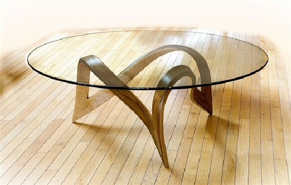Base For Glass Coffee Table TrefoilCoffeeTable Sculpture Under Glass  Original Coffee Tables By Larry And Nancy