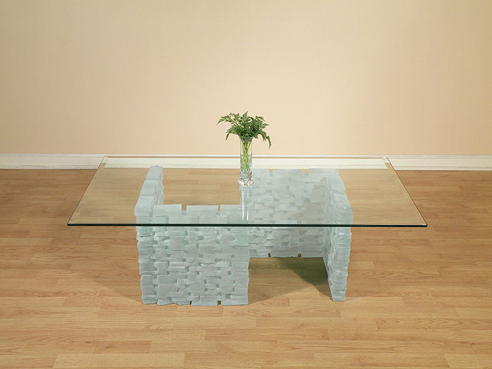 Base For Glass Coffee Table Typical Clear Glass C Shape Dining Table Base  Set Simple Design