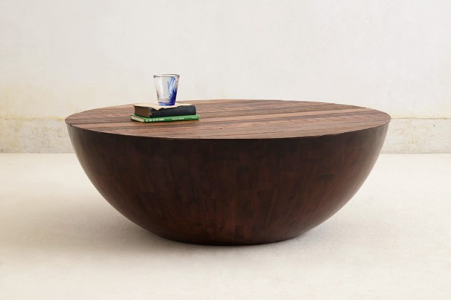 Beautiful Coffee Tables Ever Semisfera Coffee Table Rustic Meets Elegant In This Spherical Coffee Table Solid Wood Round Coffee Table (View 2 of 10)