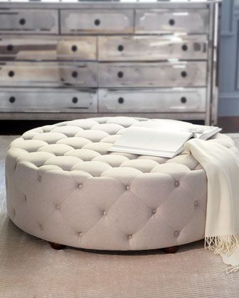 Bevin Tufted Ottoman Furniture Concept Candie Interiors Really Likes This Ottoman Round Tufted Coffee Table Furniture Home Design (Image 2 of 10)