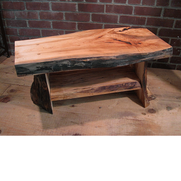 black birch coffee table small rustic coffee table image 2 of 10
