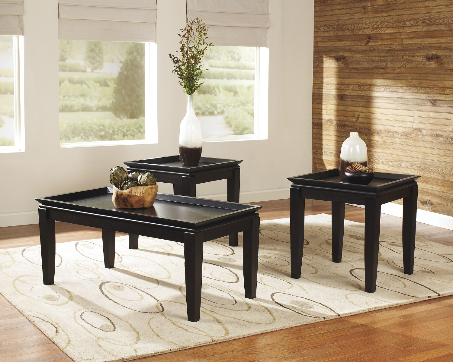 Black Coffee Table Set It Is As Simply As Removing The Handles If You Want To Make The Drawer Invisible (Image 6 of 10)