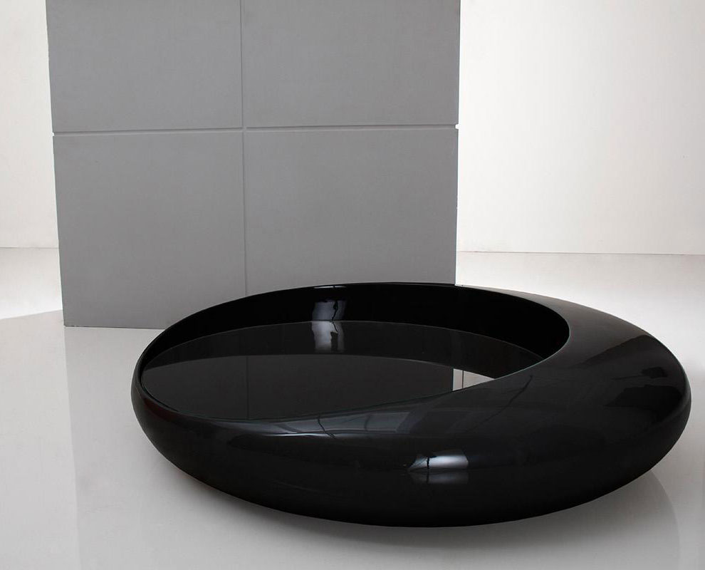 10 Ideas of Modern Black Round Coffee Table Set