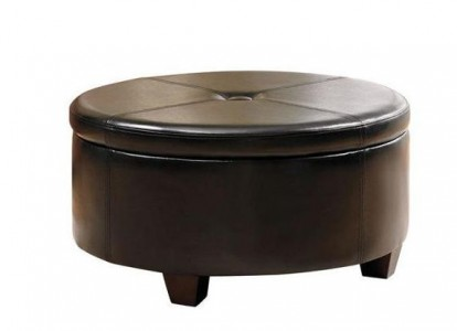 Featured Photo of Black Round Ottoman Coffee Table