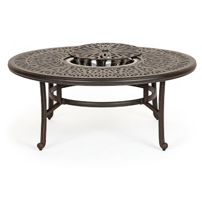 black-steel-outdoor-patio-coffee-table-round-outdoor-coffee-table-round-rustic-outdoor-coffee-table (Image 4 of 10)