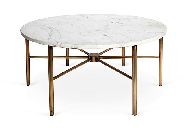 Featured Photo of Faux Marble Round Coffee Table
