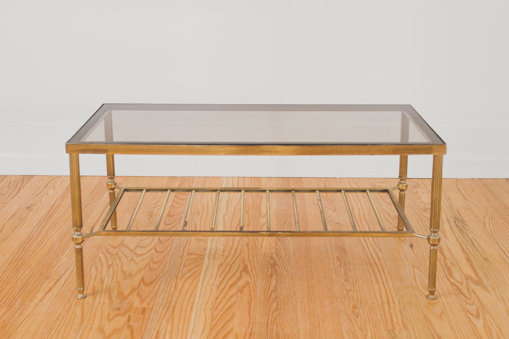 Featured Photo of Stainless Steel Brass Glass Coffee Tables