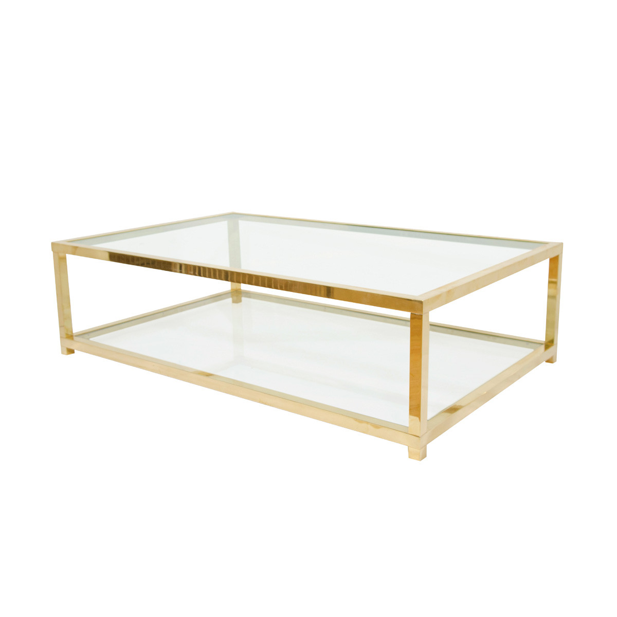 brass-glass-coffee-tables-classic-vintage-french-55-square-two-tier-brass-glass-coffee-table-finials (Image 2 of 10)
