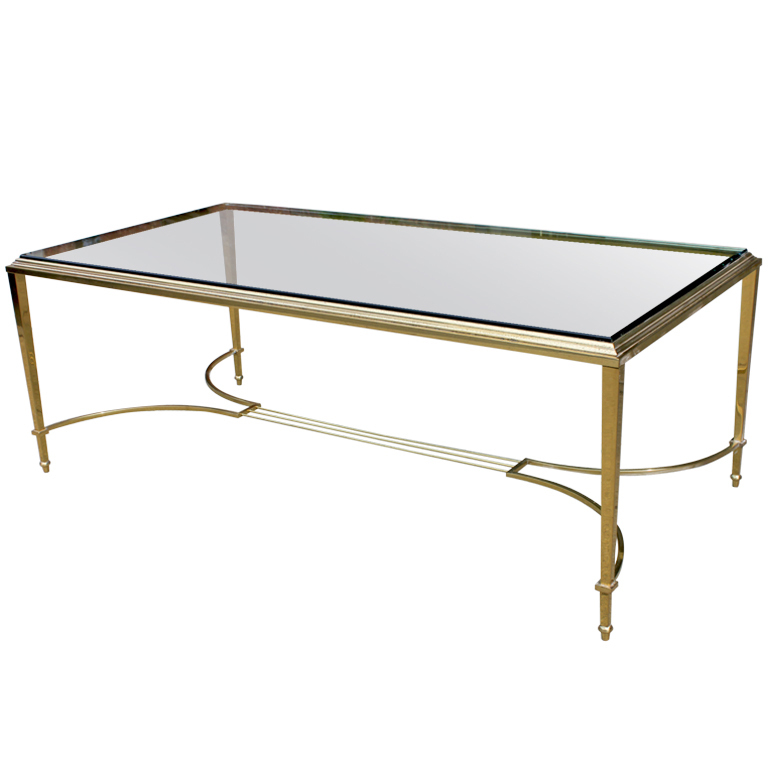 brass-glass-coffee-tables-from-a-unique-collection-of-antique-and-modern-coffee-and-cocktail-at-square-table (Image 3 of 10)