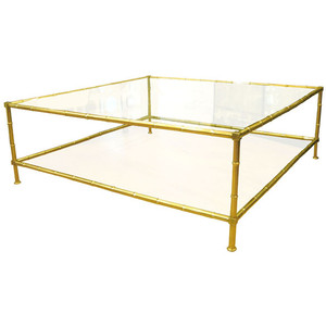 brass-glass-coffee-tables-square-brass-faux-bamboo-living-room-table-family-room-accent-gold-coffee-sample-design (Image 7 of 10)