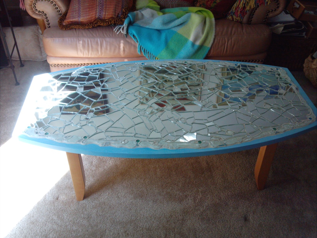 Broken Glass Coffee Table I Made These Finials To Go On Top Of The Farm Rollers Ive Mentioned Before Shattered Glass Effect (View 3 of 9)