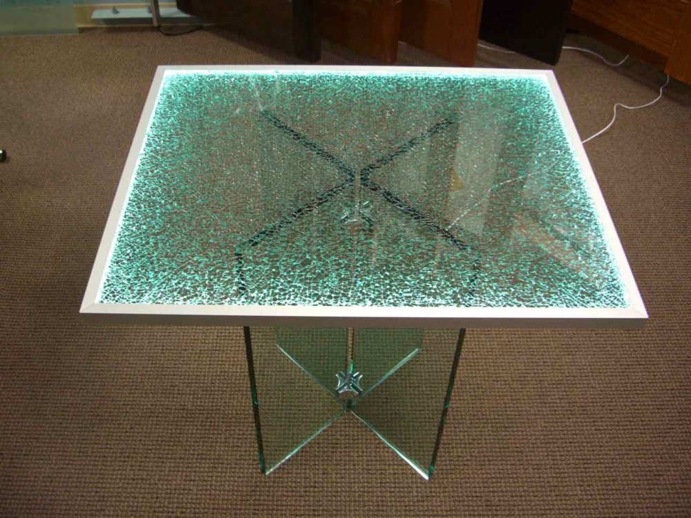 Broken Glass Coffee Table The Glass Costs Me P1800 Plus Delivery Charges When I Bought It Years Ago Shattered Glass Edge Lit (View 8 of 9)