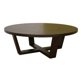 Brown Round Coffee Table Shop Baxton Studio Dark Brown Composite Round Coffee Table Dark Brown Round Coffee Table (View 3 of 10)