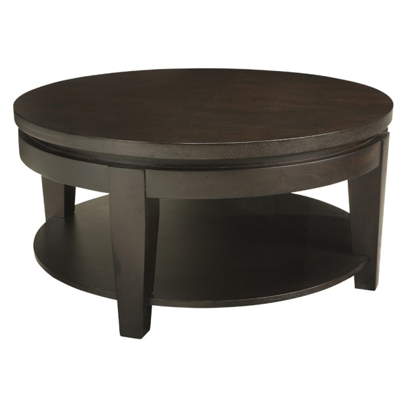 buy-coffee-tables-asia-round-coffee-table-with-shelf-round-coffee-tables-coffee-table-with-glass-inset-for-any-living-room (Image 2 of 10)