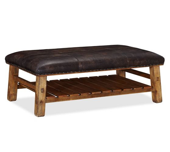 caden-Modern-wood-coffee-table-reclaimed-metal-mid-century-round-natural-diy-leather-ottoman-coffee-table-rectangle (Image 2 of 10)