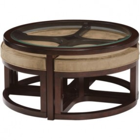 Featured Photo of Round Coffee Table With Seats Underneath