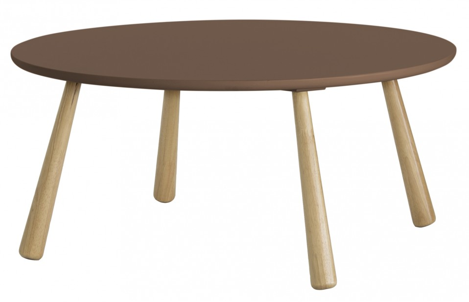 Catana Retro Round Coffee Table In Brown Furniture Brown Round Coffee Table Catana Retro Round Side Table In Brown Out Original (View 4 of 10)