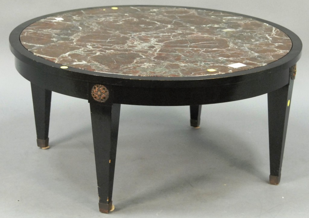 Marble Top Round Coffee Table Sesigncorp