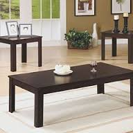 Cheap Coffee And End Table Sets Either Contrast The Shape Or Make It In A Harmony If The Room Where You Want To Place The Et Filled With Furniture Square Shapes (Image 3 of 10)
