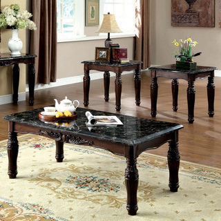 Cheap Coffee And End Table Sets Ou Can Choose Round To Contrast The Dominant Square Shape Can Do The Contrary Furnish Your Room With All Square Shaped Furniture (Image 7 of 10)