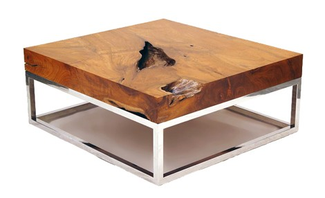 chista-natural-Modern-wood-coffee-table-reclaimed-metal-mid-century-round-natural-diy-Contemporary- (Image 1 of 10)
