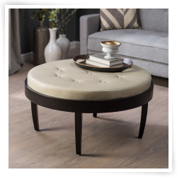 Featured Photo of Round Leather Coffee Tables With Storage
