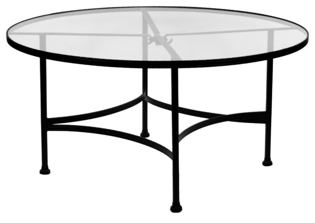 Featured Photo of Round Glass Top Coffee Table Wrought Iron
